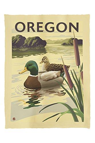 (Lantern Press Mallard Ducks - Oregon 19643 (60x80 Poly Fleece Thick Plush Blanket))