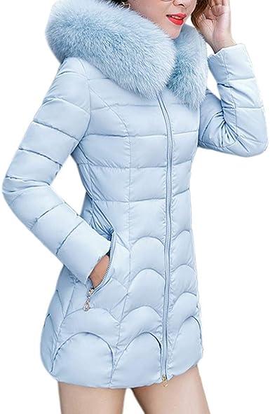 Xinantime Moda Mujeres de Invierno Chaqueta Larga Abrigo de ...