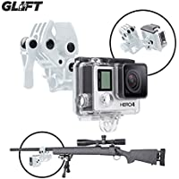 Sportsman Mount Fixing Clip for Gun / Fishing Rod / Bow GoPro Hero 3 & 4 Action Cameras (WHITE)