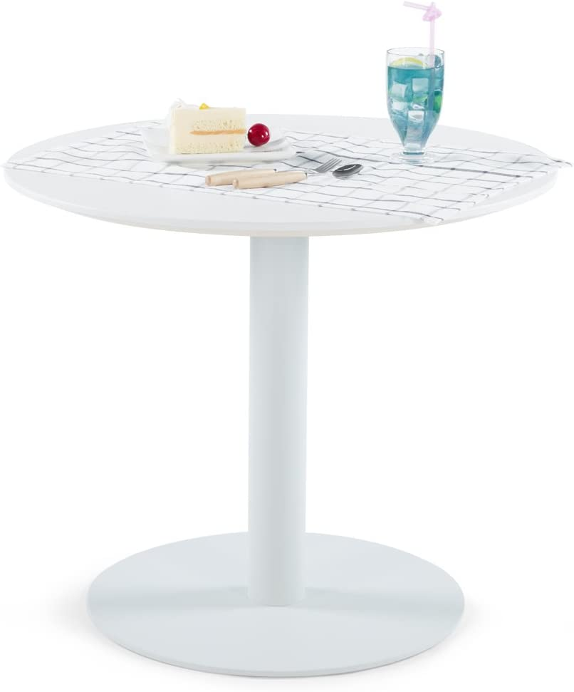 Sunon Kleiner runder Tisch mit Metallsockel, 70 cm Round
