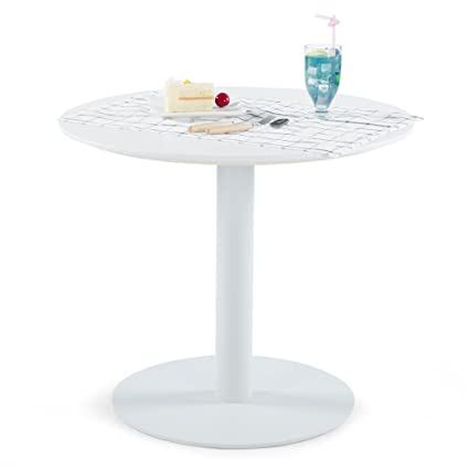 amazon com sunon d27 5 x h23 6 round white cafe table with rh amazon com coffee table white white round cafe table
