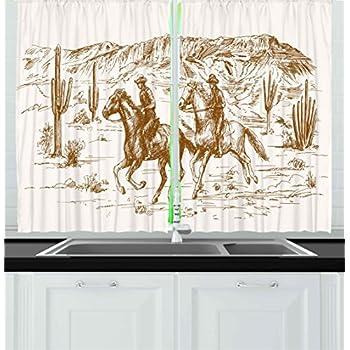 Amazon.com: MarCielo 3 Piece Printed Western Texas Star Kitchen ...