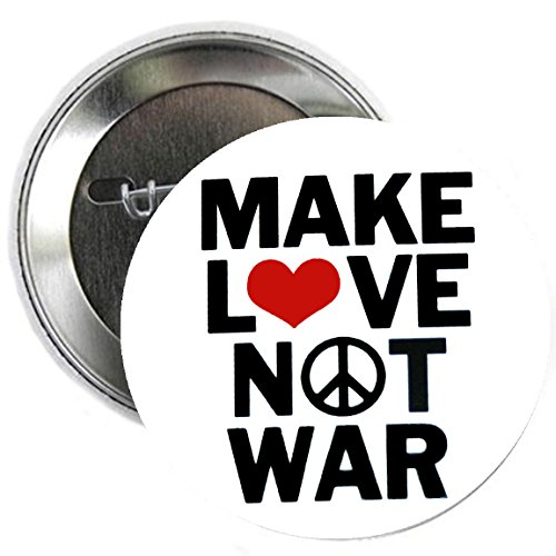 Button Love Pinback (Peace Anti-War Make Love Not War 2.25