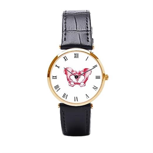 aromar hembra Pelvis rojo, correa de piel Vintage reloj de pulsera Tribal, diseño de