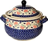 Polish Pottery Soup Tureen from Zaklady Ceramiczne Boleslawiec 1004-963 Classic Pattern, 13.4 Cups