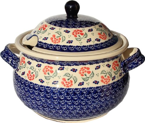 Polish Pottery Soup Tureen from Zaklady Ceramiczne Boleslawiec 1004-963 Classic Pattern, 13.4 Cups - Polish Pottery Soup Tureen