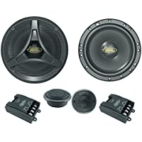"Lanzar Upgraded 6.5"" 2 Way Coaxial Speaker Component System Kit - 200 Watt Peak 55 – 20 kHz Frequency Response 4 Ohm and One Pair Tweeter w/ Passive Crossover Network and 3 Mounting Options - DCT6KT"