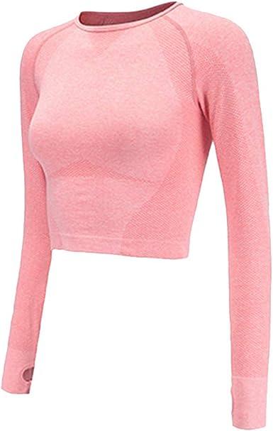 Women/'s Seamless Long Sleeve Crop Top Shark Yoga Shirts Thumb Hole Gym
