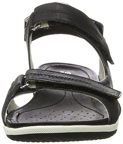 A Sandal Para Punta Abierta Con Vega Black Sandalias D Mujer Geox tB7wqPx