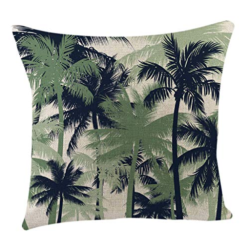 huoaoqiyegu Tropical Plant Pattern Short Plush Throw Pillow Case Sofa Throwing pad Set Home Decoration