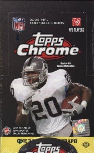(1 (One) Box - 2008 Topps Chrome Football Hobby Box (24 Packs per Box) - Possible Matt Ryan, Matt Forte, Chris Johnson, Joe Flacco, DeSean Jackson, Darren McFadden, and/or Felix Jones Rookie Cards!!!! )