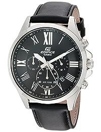Casio Men's 'Edifice' Quartz Stainless Steel Casual Watch, Color Black (Model: EFV-500L-1AVCF)