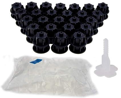 Sistema nivifix bruno plast piastrelle livella kq set nero per
