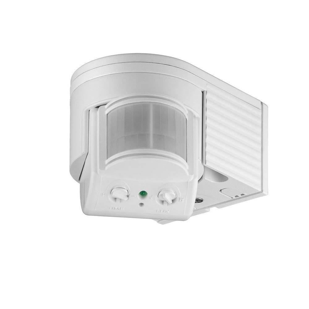 Movimiento de montaje en superficie de infrarrojos para uso al aire libre salpicaduras,blanco la clase de protecci/ón IP44 180 /°campo grado de rotaci/ón de trabajo // /área de detecci/ón inclinable