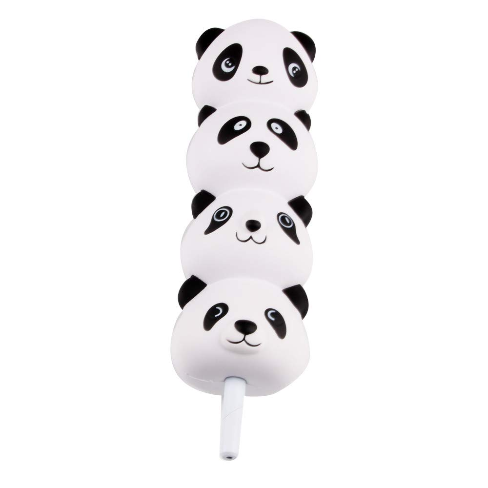 callm Squishies Style Slow Rising Squishy Toys Cat&Panda Pencil Toppers Grip Scented Squishies Kids Party Squishy Stress Reliever Toy with Ball Pen (Panda)