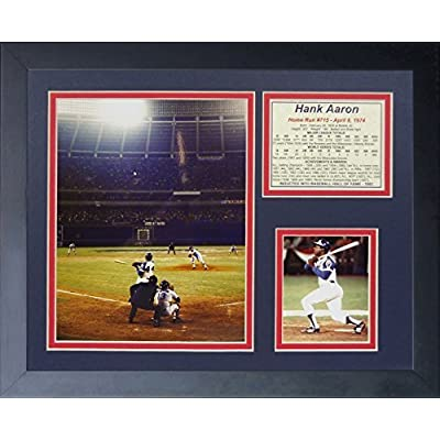 """Legends Never Die """"Hank Aaron 715th Home Run"""" Framed Photo Collage, 11 x 14-Inch by Legends Never Die"""
