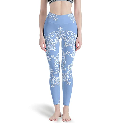 Pantalones Ligeros de Yoga con diseño de Mandela Azul - sin ...