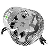 VIVOSUN 6 inch Inline Duct Booster Fan 240 CFM, Low Noise & Extra Long 5.5' Grounded Power Cord