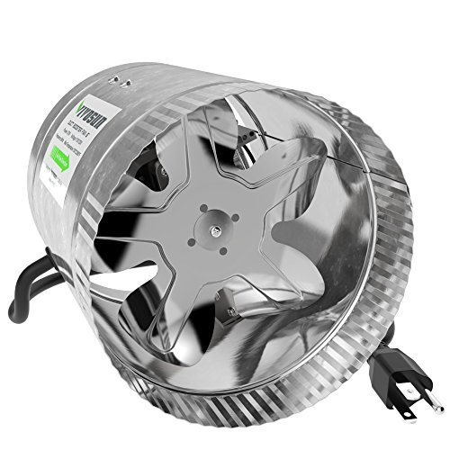 [VIVOSUN 6 inch Inline Duct Booster Fan 240 CFM, Low Noise & Extra Long 5.5' Grounded Power Cord] (Duct Booster Duct Fan)