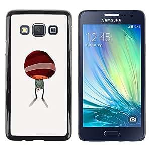 TopCaseStore / la caja del caucho duro de la cubierta de protección de la piel - Abstract Minimalist Kid Cute - Samsung Galaxy A3 SM-A300
