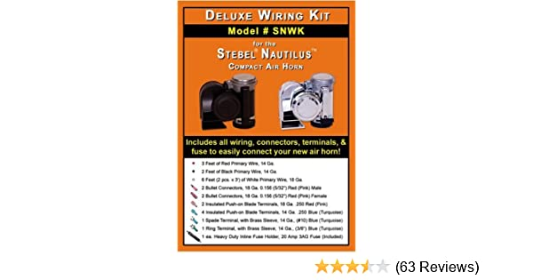 amazon com deluxe wiring kit for stebel nautilus compact air horns rh amazon com Car Horn Wiring Diagram Stebel Horn Wiring Diagram Electra Glide