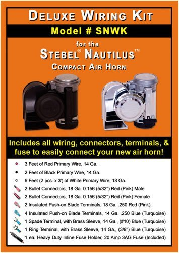 amazon com deluxe wiring kit for stebel nautilus compact air horns rh amazon com