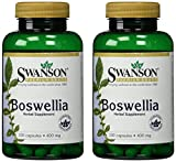 Swanson Premium Boswellia 400 mg - 2 Bottles each of 100 Capsules