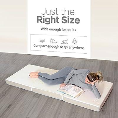 """Milliard Tri Folding Mattress Ultra Soft Removable Cover Non-Slip Bottom (75"""" x 31"""")"""