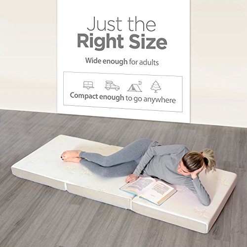 Milliard Tri Folding Mattress, with Ultra Soft Removable Cover and Non-Slip Bottom, (Single 75″ x 25″) Better Than An Air Mattress
