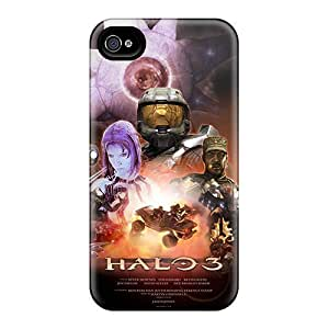 Fashion Protective Halo 3 Case Cover For Iphone 4/4s