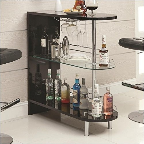 Modern Bar Cart (Coaster Home Furnishings 101063 Contemporary Bar Table,)