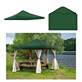 GC Global Direct 10 X 10 ft Patio Gazebo Top Canopy Replacement Color Opt (Green)