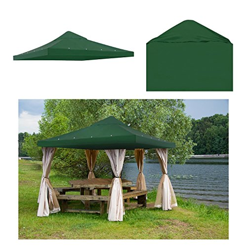 GC Global Direct 10 X 10 ft Patio Gazebo Top Canopy Replacement Color Opt (Green) by GC Global Direct