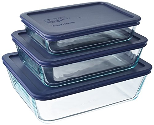 Pyrex Easy Grab 6 Piece Bakeware Set Color: Blue