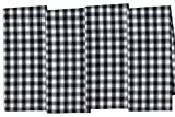 DII COSD35176 Cotton Dish, Decorative Oversized Towels, Perfect for Every Day Home Kitchen, Holidays and Housewarming Gifts, 18 x 28, Black/White