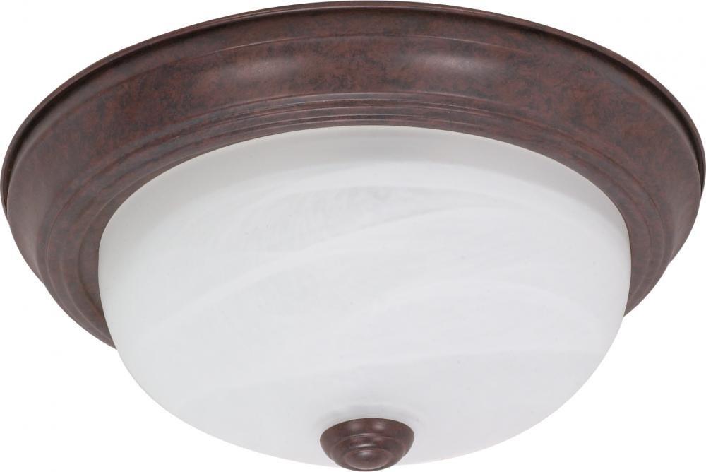 Nuvo Gothamシャンデリア 60/206 1 B002OM9QSY Old Bronze / Alabaster Glass|13インチ フラッシュ Old Bronze / Alabaster Glass