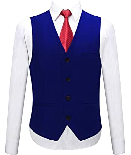 Amazon.com: TOPTIE Waiter Bartender Uniform Unisex Button ...