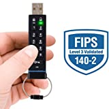 Apricorn Aegis Secure Key FIPS Validated 4 GB USB 2.0 256-bit AES-CBC Encrypted Flash Drive ASK-256-4GB (Black)