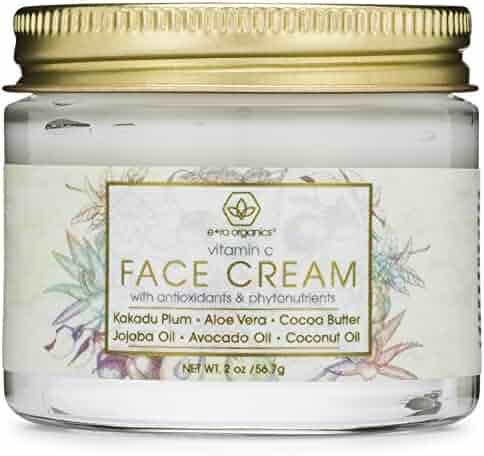 Vitamin C Face & Eye Cream - 2oz Revitalizing Natural Anti Aging Moisturizer With Kakadu Plum, Jojoba Oil, Avocado Oil, & Vitamin E for Dry Skin, Wrinkles, Aging, Eye Bags, Dark Circles & Crows Feet
