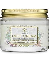 Vitamin C Face & Eye Cream 2oz Revitalizing Natural Anti Aging Moisturizer With Kakadu Plum, Jojoba Oil, Avocado Oil, Vitamin E & More for Dry Skin, Wrinkles, Aging, Eye Bags, Dark Circles & Crows Fee