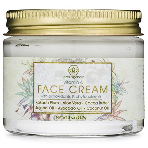 Vitamin-C Face Moisturizer & Eye Cream - Revitalizing Natural Anti Aging Moisturizer With Kakadu Plum, Jojoba Oil, Avocado Oil, Vitamin E for Dry Skin, Wrinkles, Aging, Eye Bags & Dark Circles