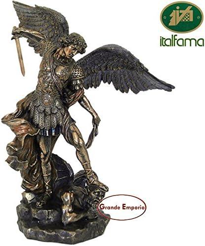 italfama Estatua de San Miguel Arcángel, de resina bronce acabado ...