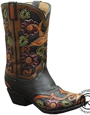 Amazon Western Cowboy Boot Vase Planter For Western Decor
