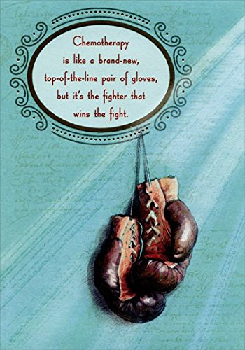 Pair of Boxing Gloves: Fight Cancer - Designer Greetings Support Card