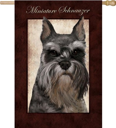 Miniature Schnauzer Flag (Regular Size) For Sale