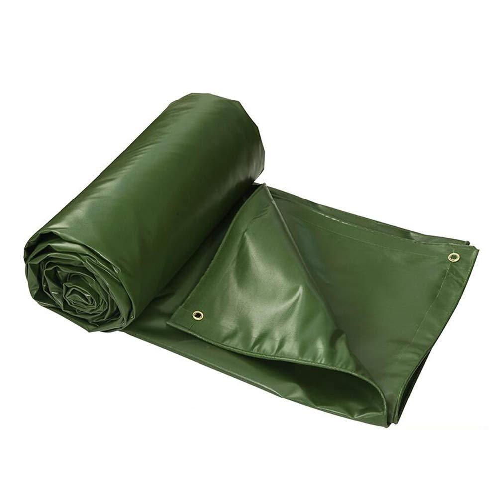 DALL ターポリン タープ 厚い ヘビーデューティー 防雨布 防水 日焼け止め シェードクロス 雨 (色 : 緑, サイズ さいず : 5×7m) 5×7m 緑 B07KZVJH5J