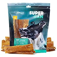 SUPER CAN BULLYSTICKS Beef Tendon Chews for Dogs, Promoting Healthy Joints and Ligaments While 100% Natural. Premium Graded Free Range Grass Fed Sourced Beef - Grain Free Dog Treats