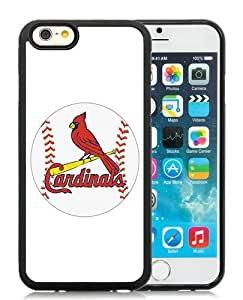 Hot Sale iPhone 6S TPU Case ,Unique And Durable Designed Case With St Louis Cardinals black iPhone 6S Cover Phone Case