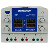 B&K Precision 1673 Quad Display Triple Output DC Power Supplies, 0-6A Current (variable outputs)