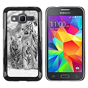 Paccase / Dura PC Caso Funda Carcasa de Protección para - Snow Tiger Winter Christmas Nature - Samsung Galaxy Core Prime SM-G360